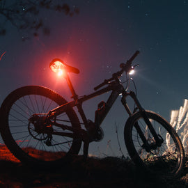 Mini Bicycle Headlight Taillight USB Rechargeable- WEST BIKING