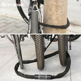 Bicycle Anti-Theft Chain Lock - WEST BIKING