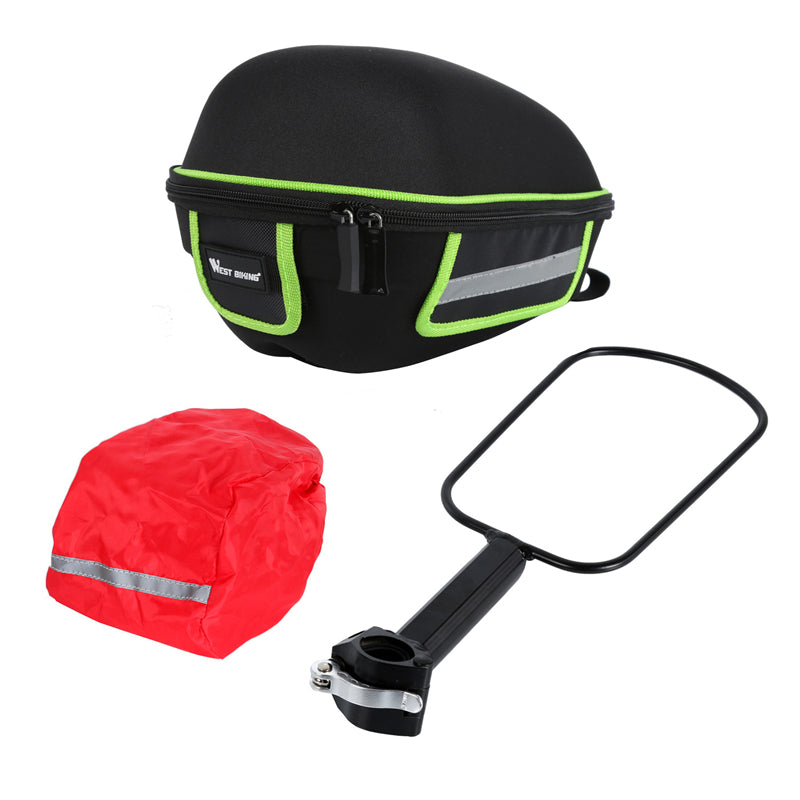 Bicycle Rear Bag With Rain Cover - Include Tail Shelf