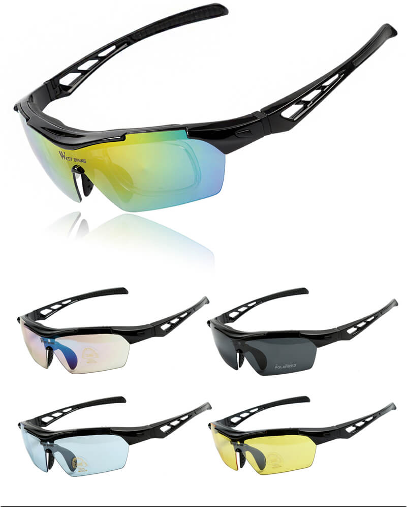 Anti-UV Polarized Cycling Glasses Set - WEST BIKING