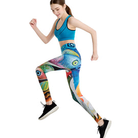 Women's Yoga Leggings Exercise Workout Pants Gym Tights - WEST BIKING