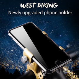 Upgrade Bicycle Phone Holder Handlebar GPS Clip Stand - WEST BIKIING
