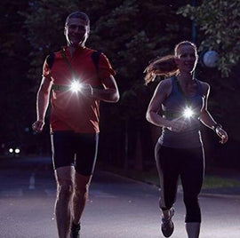 Running Light Lamp USB Rechargeable LED Body Torch - WEST BIKING