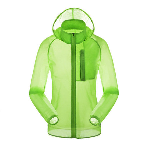 UV Protection Quick Dry Transparent Outdoor Jacket - WEST BIKING