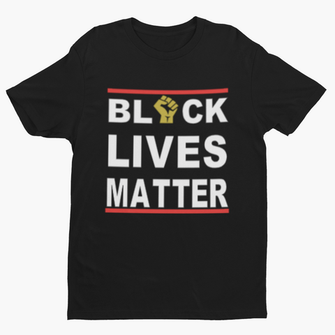 BLM w/ Gold Metallic Fist - Child Tee