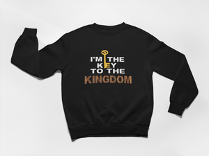 Key to the Kingdom Sweatshirt - Metallic Gold Key