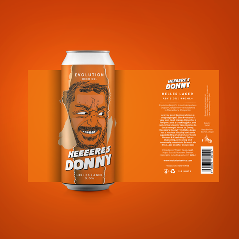 Here's Donny - Helles Lager, 5.0%, 440ml