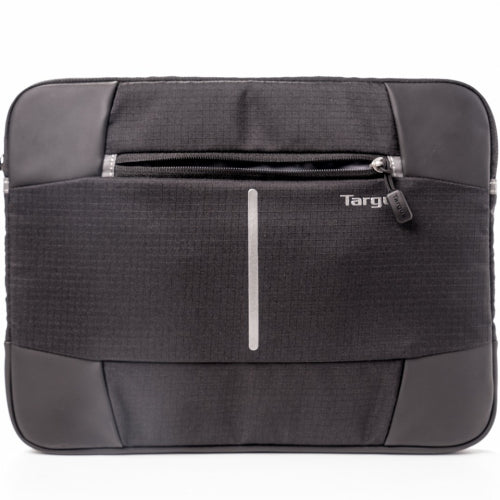 Targus 13-14'' Bex II Laptop Sleeve - Weather-resistant & rip-stop fabrication - Black with black trim - Mobilebarn