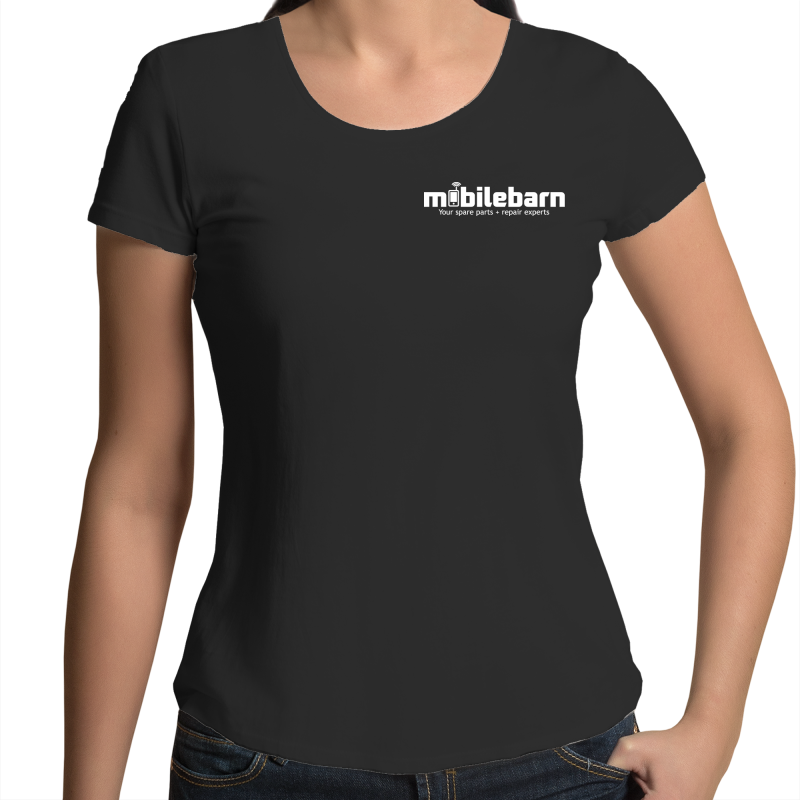 Mobilebarn™ Womens Scoop Neck T-Shirt - Mobilebarn®