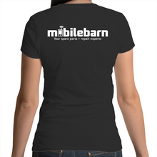Load image into Gallery viewer, Mobilebarn™ Womens V-Neck T-Shirt - Mobilebarn®