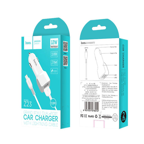 Hoco - 12W Car Chargers - Mobilebarn®