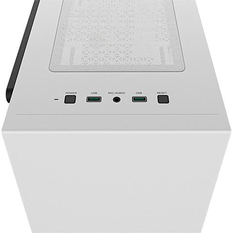 Deepcool MACUBE 110 White Minimalistic Micro-ATX Case, Magnetic Tempered Glass Panel, 1xPreinstalled Fan - Mobilebarn