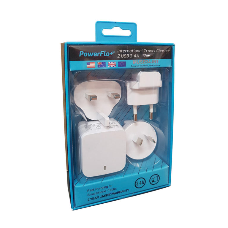 Powerflo+ International Travel Pack - Mobilebarn®