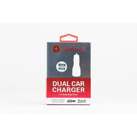 Techano Dual Car Charger - Mobilebarn®