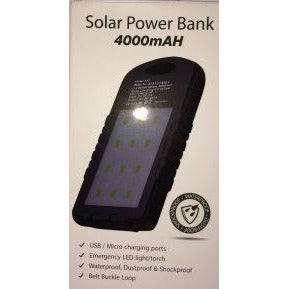 Solar Power Bank 4,000 mAh - Mobilebarn®