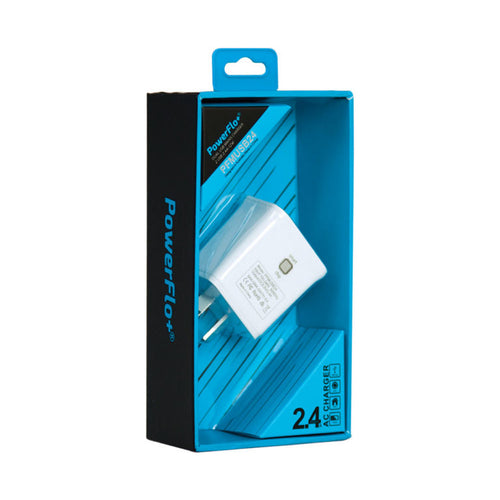 Powerflo+ Dual USB Wall Plug 2.4A