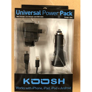 Koosh Universal Wall/Car lightning/Micro Power Pack