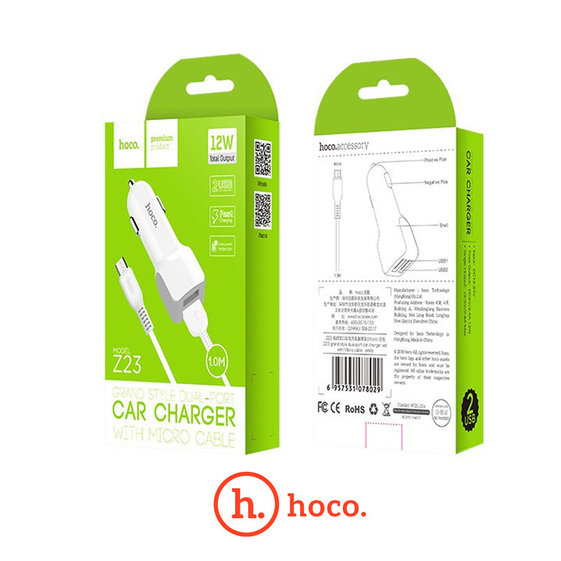 Hoco - 12W Car Chargers - Mobilebarn