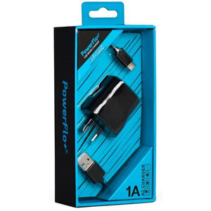 Powerflo+ AC Charge Kit + Micro USB Cable 1A - Mobilebarn®