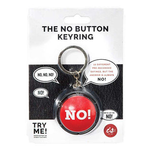 The NO Button Key-ring - Mobilebarn®