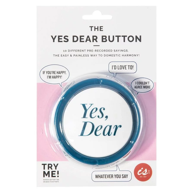 "The ""Yes Dear"" Button - Mobilebarn"