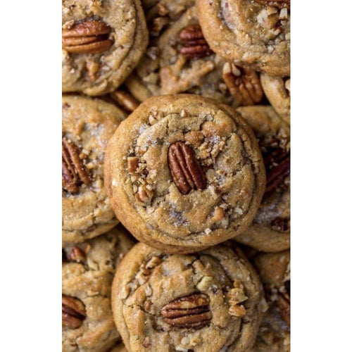 Golden Bourbon Pecan Cookies