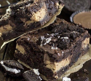 Dirty Brownies — (Reese's Peanut Butter Cup & Oreo Stuffed)