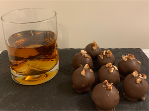 Chocolate Bourbon Pecan Truffles