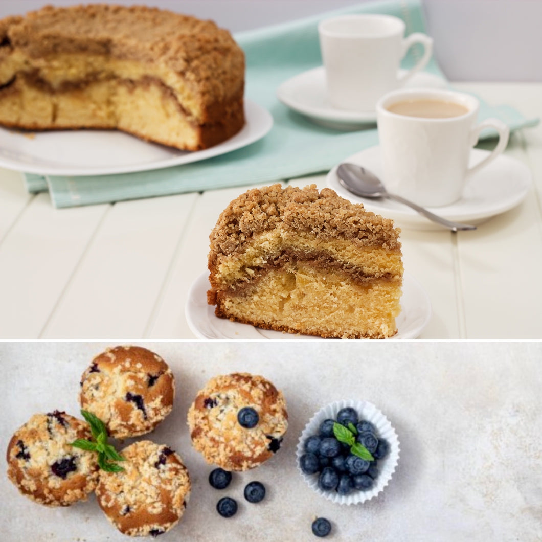 Coffee Cake & Blueberry Muffins