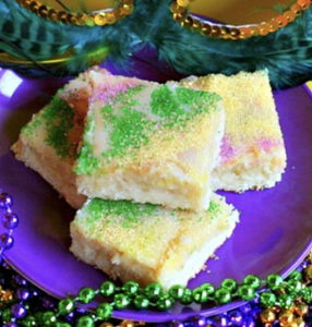 Mardi Gras King Cake Bars
