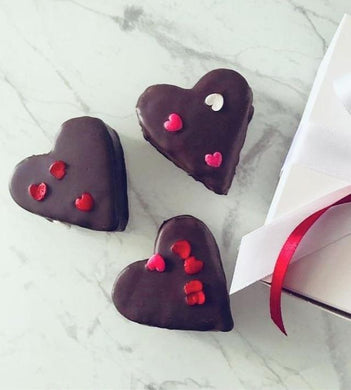Chocolate Covered Heart Brownies