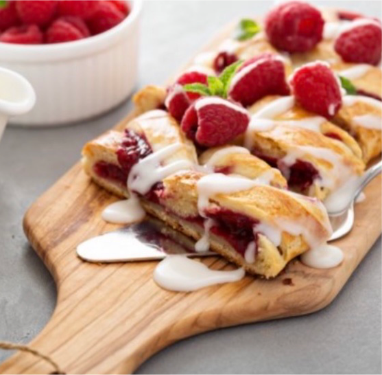 Raspberry Danish Braid