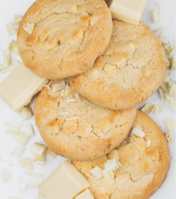 White Chocolate Macadamia Nut Cookies - Bouchée Douce Bakery