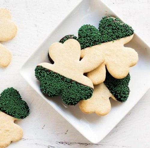 St. Patrick's Day Dipped Shamrock Cookies