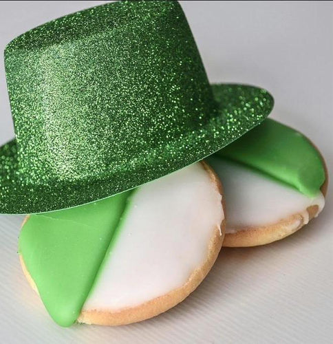 Green & White St. Patrick's Day Cookies