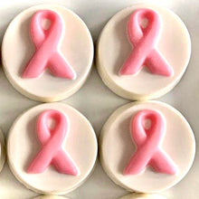 Load image into Gallery viewer, White Chocolate Pink Ribbon Oreos