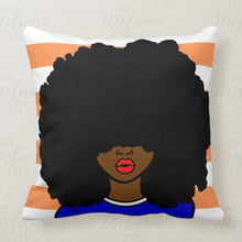 Load image into Gallery viewer, Kinky Hair Queen Throw Pillow