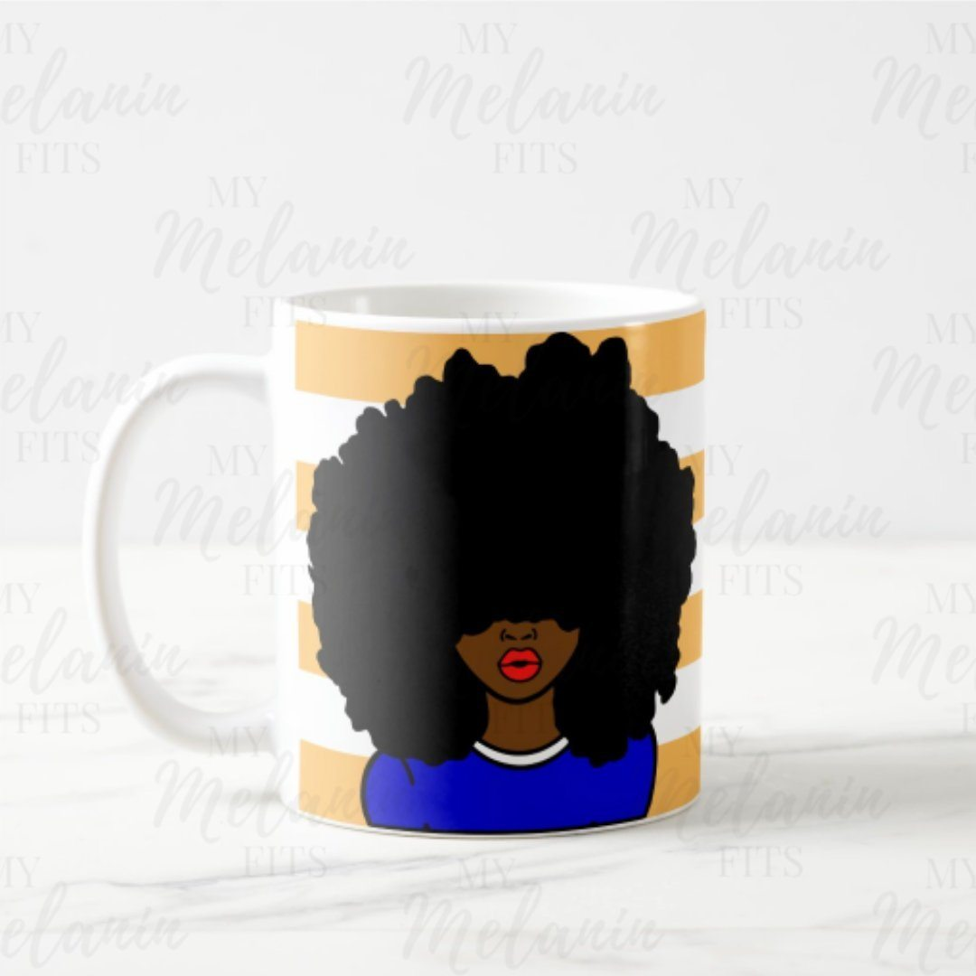 Kinky Curly Queen Mug-Mug-My Melanin Fits