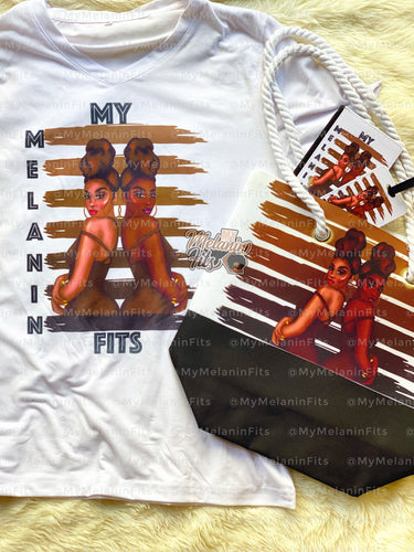 My Melanin Fits Tee + Tote Bag