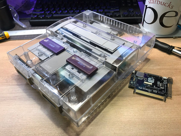Retro Game Restore - SNES Transparent Case