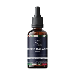 Open image in slideshow, Raw Nutrients Femme Balance Drops - Infused with Bach Flowers