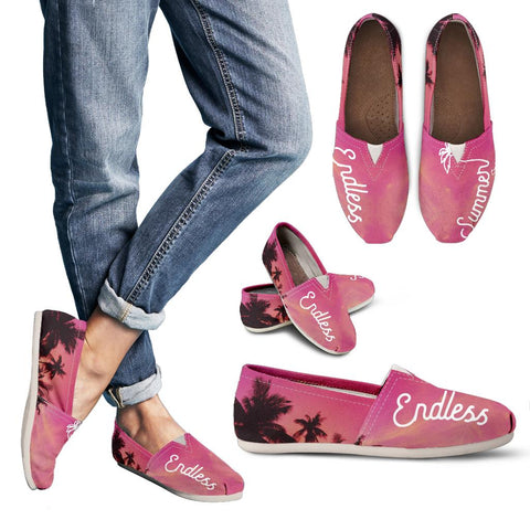 Image of Endless Summer Inc. BBeez Beach Comber Canvas Shoes Women's Casual Shoes - Canvas - Pink Moment / US6 (EU36) - think-endless-summer-inc
