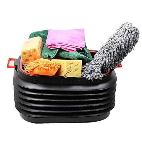Image of ENDLESS EXPAND A BIN Essential Space Saving Collapsible Multipurpose Storage Bucket, 18L/37L USB Designs - Collapses Flat For Saving Space, Fantastic for Camping, Fishing, Cleaning, Ice & Drinks, Car Wash And More - la-pool-guys
