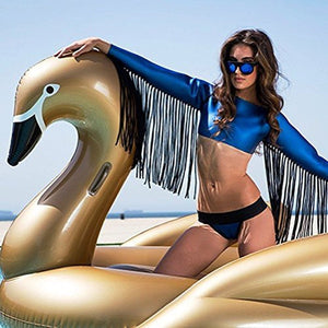 ENDLESS GOLDELUX Giant Inflatable Golden Swan - Luxurious Pool Float - Achieve Maximum Chill - la-pool-guys