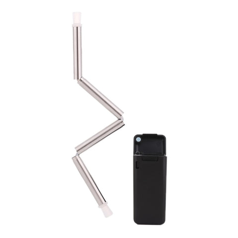Endless Summer ONE STRAW Eco Friendly Portable, Reusable Stainless Steel Drinking Straw with Hard Case and Cleaner For Camping, Picnics, Travel - la-pool-guys