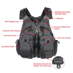 Outdoor Multi Pocket Fishing Vest