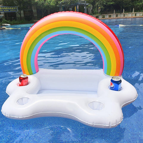 Rainbow Cloud Drink Holder - la-pool-guys