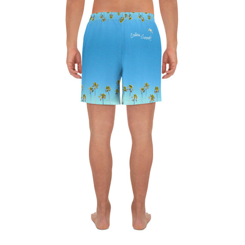Palm Life Endless Summer Inc. All-Over Print Custom Men's Athletic Long Shorts - la-pool-guys