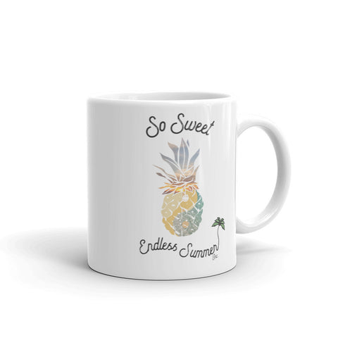 Image of So Sweet Endless Summer Pineapple Fresh Daydreamer Coffee Mug 11oz - think-endless-summer-inc