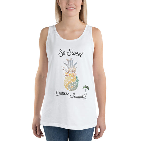 Summer So Sweet Unisex Tank Top White / XS - think-endless-summer-inc